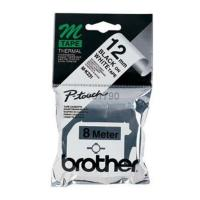 gnisio brother ptouch mk 231 white black 12 mm oem mk231bz photo