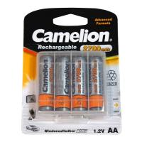 mpataries camelion rechargeable 2700mah aa 4pcs box photo