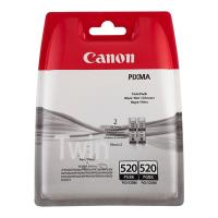 gnisio melani canon pgi 520bk twin pack me oem 2932b012 photo