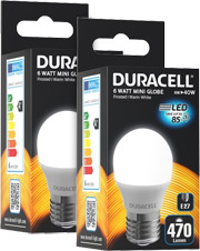 ΛΑΜΠΤΗΡΑΣ DURACELL LED G45 6W E27 2700K 2ΤΕΜ είδη γραφείου   λάμπες   led