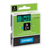dymo etiketes d1 12mm black green 45019 s0720590 photo