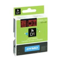 dymo etiketes d1 12mm black red 45017 s0720570 photo