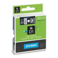 dymo etiketes d1 12mm white black 45021 s0720610 photo
