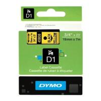 dymo etiketes d1 19mm black yellow 45808 s0720880 photo