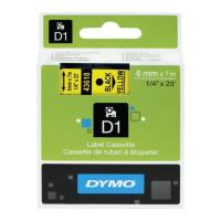 dymo etiketes d1 6mm black yellow labels 43618 s0720790 photo