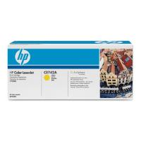 gnisio hewlett packard yellow toner me oem ce742a photo