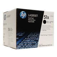 gnisio hewlett packard toner black dualpack me oem q7551xd photo