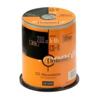 intenso cd r 52x 80min 700mb cakebox 100pcs photo