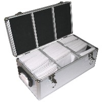aluminium carry case box 600 discs photo