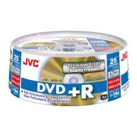 jvc dvd r 16x 47gb gold matt cakebox 25pcs japan made by taiyo yuden photo