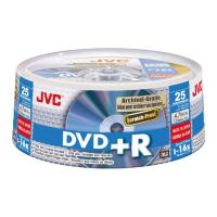 jvc dvd r 16x 47gb archival gold matt cakebox 25pcs japan made by taiyo yuden photo