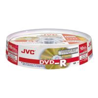 jvc dvd r 16x 47gb gold matt cakebox 10pcs japan made by taiyo yuden photo