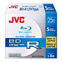 jvc blu ray bd r hard coat 25gb 6x slim 5pcs japan made by taiyo yuden photo