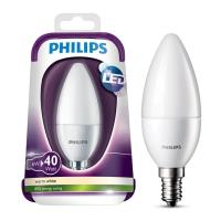 lamptiras philips led candle e14 6w warm white 470lm matt photo