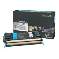 gnisio toner lexmark kyano cyan high capacity me oem c5240ch photo