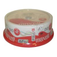 maxell dvd r 47gb 16x full face printable cakebox 25pcs photo