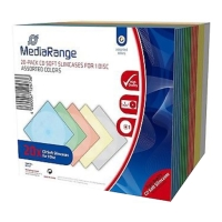 MEDIARANGE CD SOFT SLIMCASE DISC 5.0MM ASSORTED COLOURS 20PCS είδη γραφείου   θήκες cd   dvd