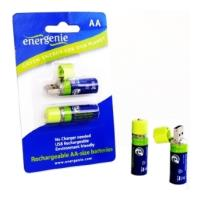 ΜΠΑΤΑΡΙΕΣ ENERGENIE EG-BA-001 RECHARGEABLE AA 1300 MAH ΜΕ ΕΝΣΩΜΑΤΩΜΕΝΟ ΒΥΣΜΑ USB είδη γραφείου   μπαταρίες   φορτιστές