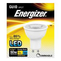 lamptiras energizer led spot gu10 57w 3000k dimmable photo