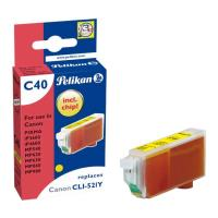 pelikan c40 symbato me canon cli 521 yellow photo