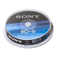 sony blu ray disc 25gb bd r 6x cakebox 10pcs