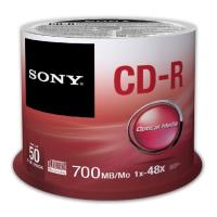 sony cd r 700mb 80min 48x cakebox 50pcs photo