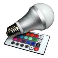lamptiras techlight led rgb e27 4w remote control photo