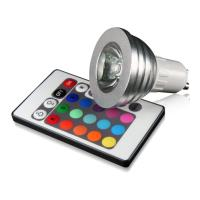 lamptiras techlight led rgb gu10 3w remote control photo