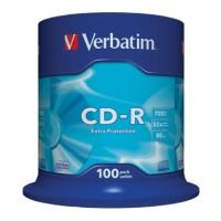 verbatim cd r 80min 700 mb extra protection 52x cakebox 100pcs photo