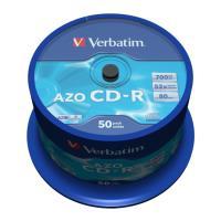 verbatim cd r 80min 700 mb 52x azo crystal cakebox 50pcs photo