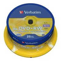 verbatim dvd rw 120min 47gb 4x cakebox 25pcs photo