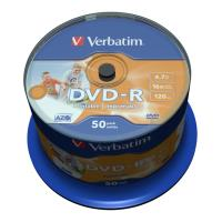 verbatim dvd r 16x 47gb spindle full face printable 50pcs photo