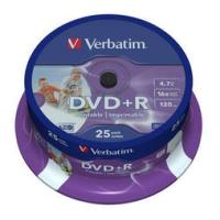 verbatim dvd r 16x 47gb cakebox wide photo printable 25pcs photo
