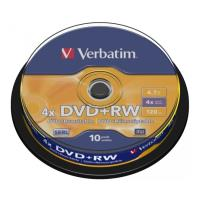 verbatim dvd rw 120min 47gb 4x cakebox 10pcs photo