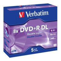 verbatim dvd r dual layer 8x 85gb jewel case 5pcs photo