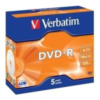 verbatim dvd r 16x 47gb matt silver jewel case 5pcs photo