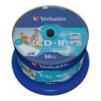 verbatim cd r 80min 700 mb 52x dlp wide printable cakebox 50pcs photo