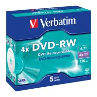 verbatim 43285 dvd rw 4x 47gb 5pcs photo