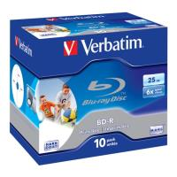 verbatim bd r sl 25gb 6x printable 10pcs jc 43713 photo