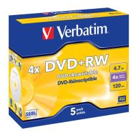 verbatim dvd rw jewel case 47gb 4x 5pcs photo