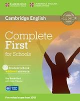 complete first for schools students book cd rom photo
