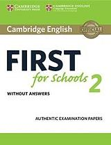 cambridge english first for schools 2 without answers photo
