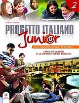 progetto italiano junior 2 libro di classe quaderno degli esercizi cd photo