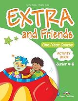 EXTRA AND FRIENDS ONE YEAR COURSE JUNIOR A+B ACTIVITY BOOK βιβλία   εκμάθηση ξένων γλωσσών