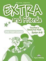 EXTRA AND FRIENDS ONE YEAR COURSE JUNIOR A+B TEACHERS RESOURCE PACK βιβλία   εκμάθηση ξένων γλωσσών