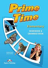 prime time elementary workbook and grammar book photo