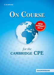 on course cpe coursebook photo