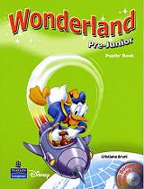 wonderland pre junior pupils book cd photo
