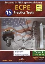 succeed in michigan ecpe 15 practice tests volume 2 tests 11 15 students book 2013 format photo