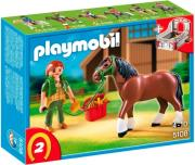 playmobil 5108 shire horse with groomer and stable alogo shire photo